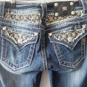 Miss Me Signature Rise Boot Cut Jeans Size 26